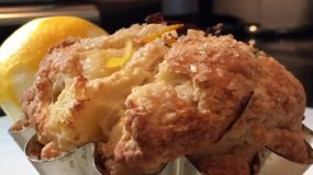 Fifty Shades of Sunshine – Meyer Lemon and White Peach Scones with Lemon Verbena