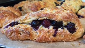Baking without Babe :( – Bend Me, Shape Me – The Blueberry-Lime Turnover Scone