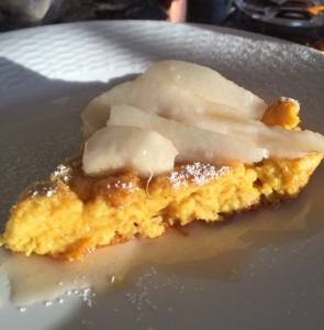 Why We Love Pancakes; Soufflé for Breakfast – Pumpkin Spice Dutch Baby with Sliced Pears