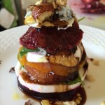 Outsmarting Winter!  My Roasted Beet and Blood Orange, Two-Cheese Caprese Salad Stacks with Toasted Hazelnuts