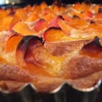 Recipe In Three Pieces – The Fresh Apricot Tart with French Almond Cream and Almond Crust