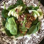 Just When Everything's Getting Old – A Spinach Salad with Chicken, Avocado, Pear and Toasted Pecans with Pear, Ginger, Parsley and Lime Vinaigrette