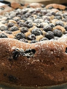 Secrets Italian Bakers Keep Up Their Sleeves – Blueberry Breakfast Cake with Walnuts and Orange