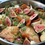 Saying Goodbye to Winter Dishes Today With One Last Gasp – Chicken with Black Mission Figs, Blenheim Apricots and Red Bliss Potatoes