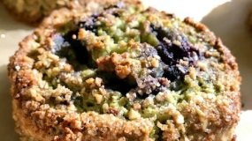 When Blue and Green Go Well Together in the Kitchen – The Matcha-Blueberry Scone with Almonds