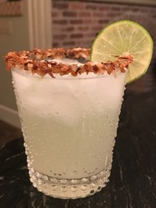 The Toasted Coconut Vodka St. Germaine with Lime